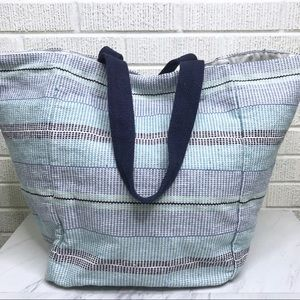 Aerie Blue Striped Beach Bag Tote Summer Oversized